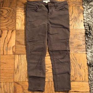 Joie skinny crop green pants, size 28